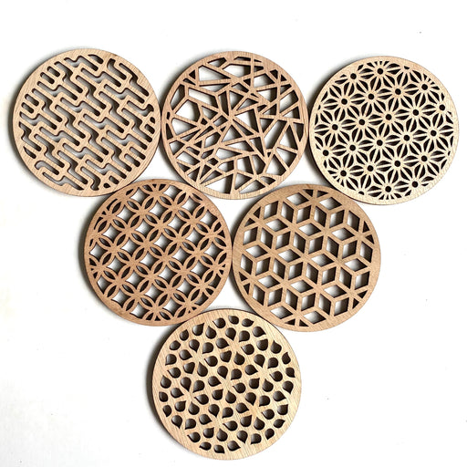 Geometric coasters - mixed set 6 - Younique Collective