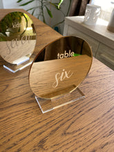 Load image into Gallery viewer, Mirror Acrylic Table Number - Round