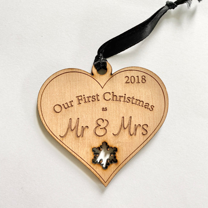 My first Christmas Mr & Mrs