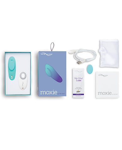 We-Vibe Moxie What's Included in the Box - Luxe Vibes Boutique