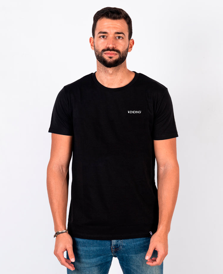 Ending Clothes Better Tomorrow Black Organic cotton camiseta algodón algodon orgánico organico negra front