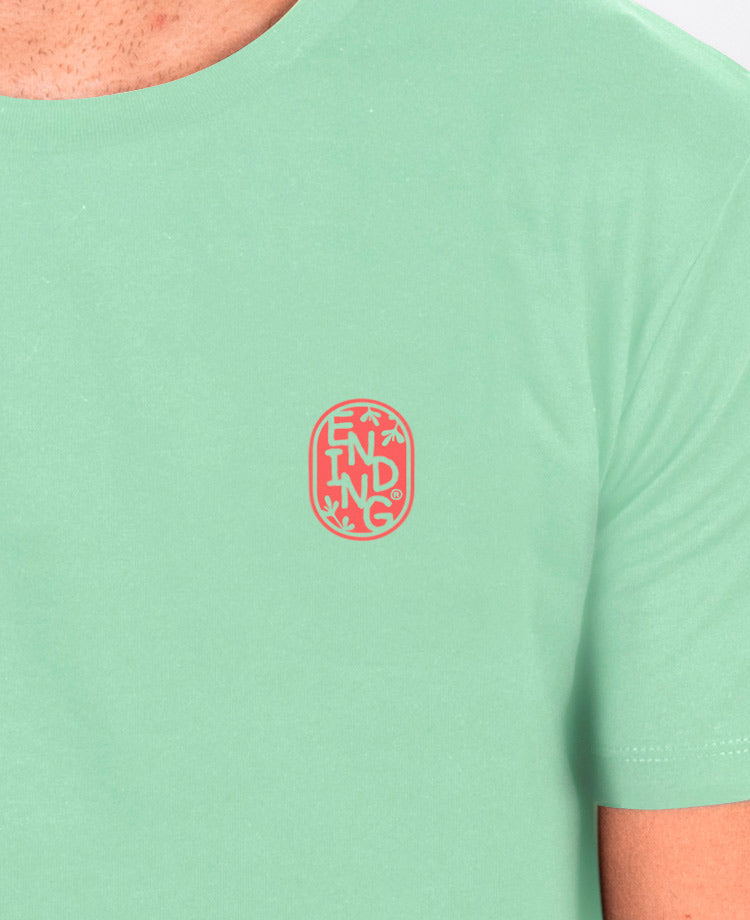 Ending Clothes Raves & Waves tee front detail