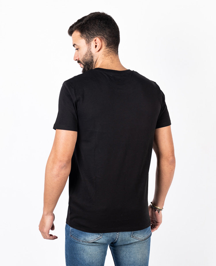 Ending Clothes Offbeat Black Organic cotton camiseta algodón algodon orgánico organico negra back