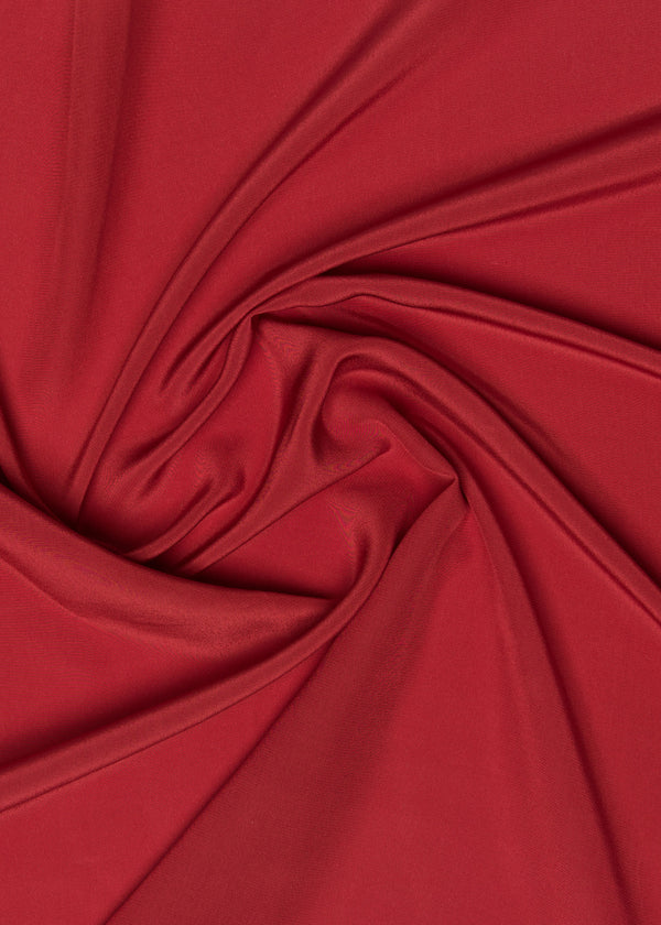 100% SILK CREPE - RED SHAN
