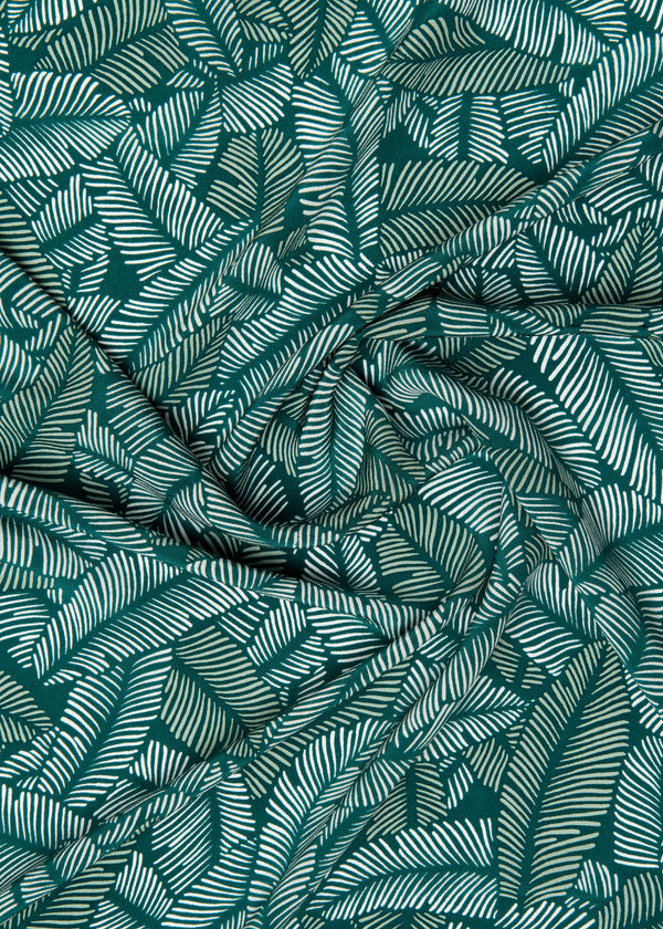 100% SILK CREPE - GREEN LUSH