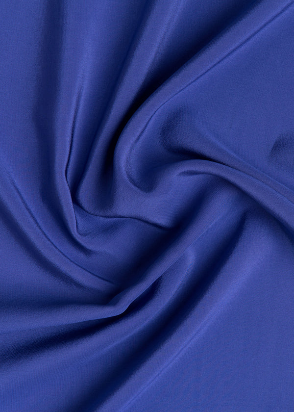 100% SILK CREPE - ROYAL