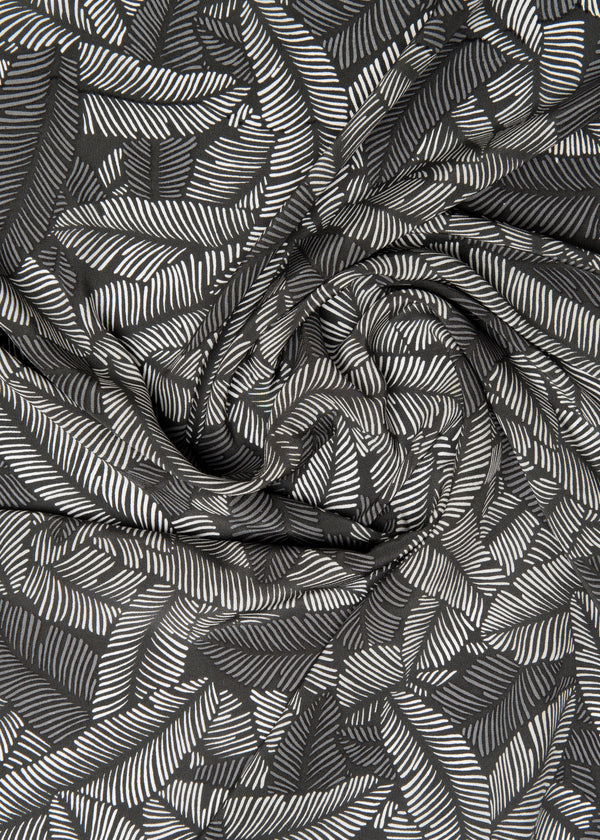 100% SILK CREPE - LUSH JUNGLE
