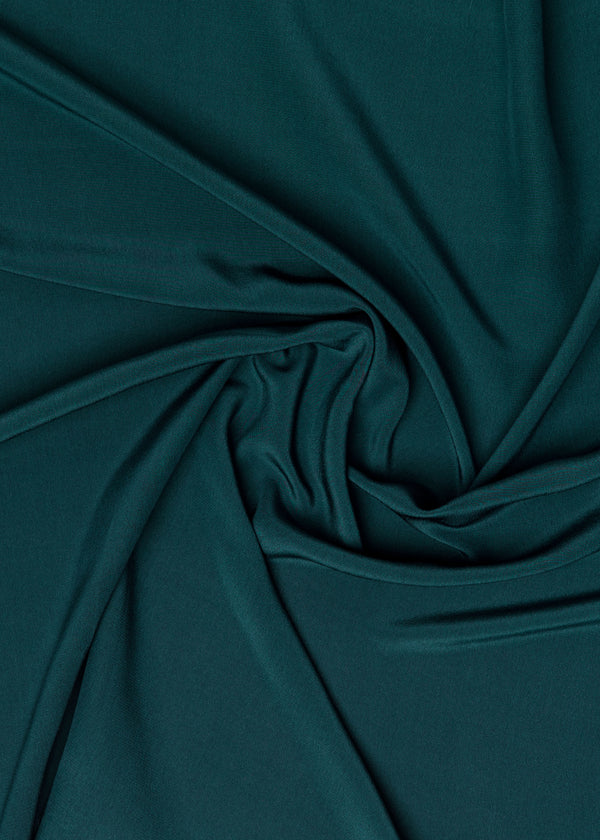 100% SILK CREPE - DEEP TEAL