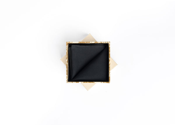 POCKET SQUARE - BLACK ONYX