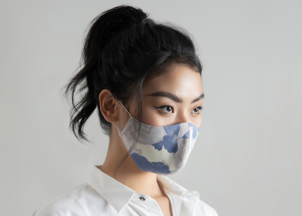 FACE MASK - HIDDEN GARDEN INDIGO