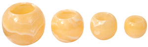 Single Alabaster Candle Holder - Egyptian Tealight and votive candles holders with Amber Glow for Home Decor – Natural stone Soothing Tranquil