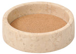 Beige Wine Bottle Coaster / Holder – Made from Elegant Marble with an Absorbent Cork – Perfect for All Drinks and any Occasion