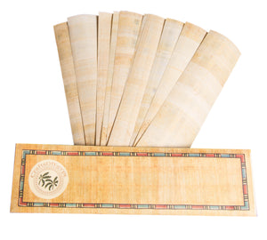 10 Egyptian Papyrus paper blank bookmarks for Art Projects and Schools 7.2 x2.0 inch (5x18 cm ) by CraftsOfEgypt