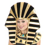 Egyptian Pharoah King TUT Headpiece for Men and Women Cleopatra Costume Head Dress Crown hat Costume.