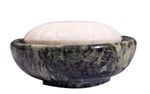 CraftsOfEgypt Green Marble Soap Dish - Polished and Shiny Marble Dish Holder Beautifully Crafted Bathroom Accessory by