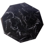 Set of 6 - Black Marble Stone Coasters Polished Coasters 3.5 Inches ( 9 cm) in Diameter Protection from Drink Rings -CraftsOfEgypt