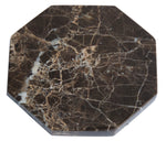 Set of 6 - Brown Marble Stone Coasters Polished Coasters 3.5 Inches ( 9 cm) in Diameter Protection from Drink Rings -CraftsOfEgypt