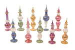Egyptian perfume bottles Set of 10 hand Blown Decorative Pyrex Glass Vials Height 4 Inch (12 cm) by CraftsOfEgypt