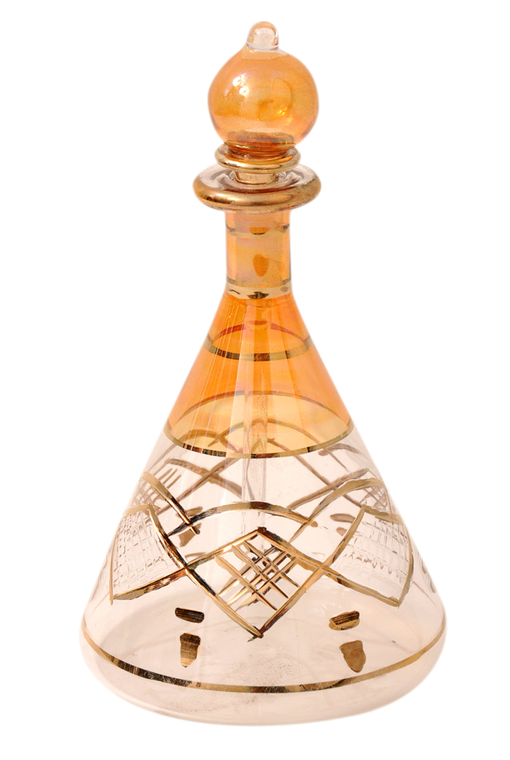 Egyptian perfume bottles single large hand Blown Decorative Pyrex Glass Vial Height inch 7.75 inch ( 20 cm ) by CraftsOfEgypt