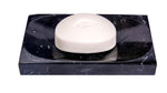 Black Marble Soap Dish - Polished and Shiny Marble Dish Holder Beautifully Crafted Bathroom Accessory
