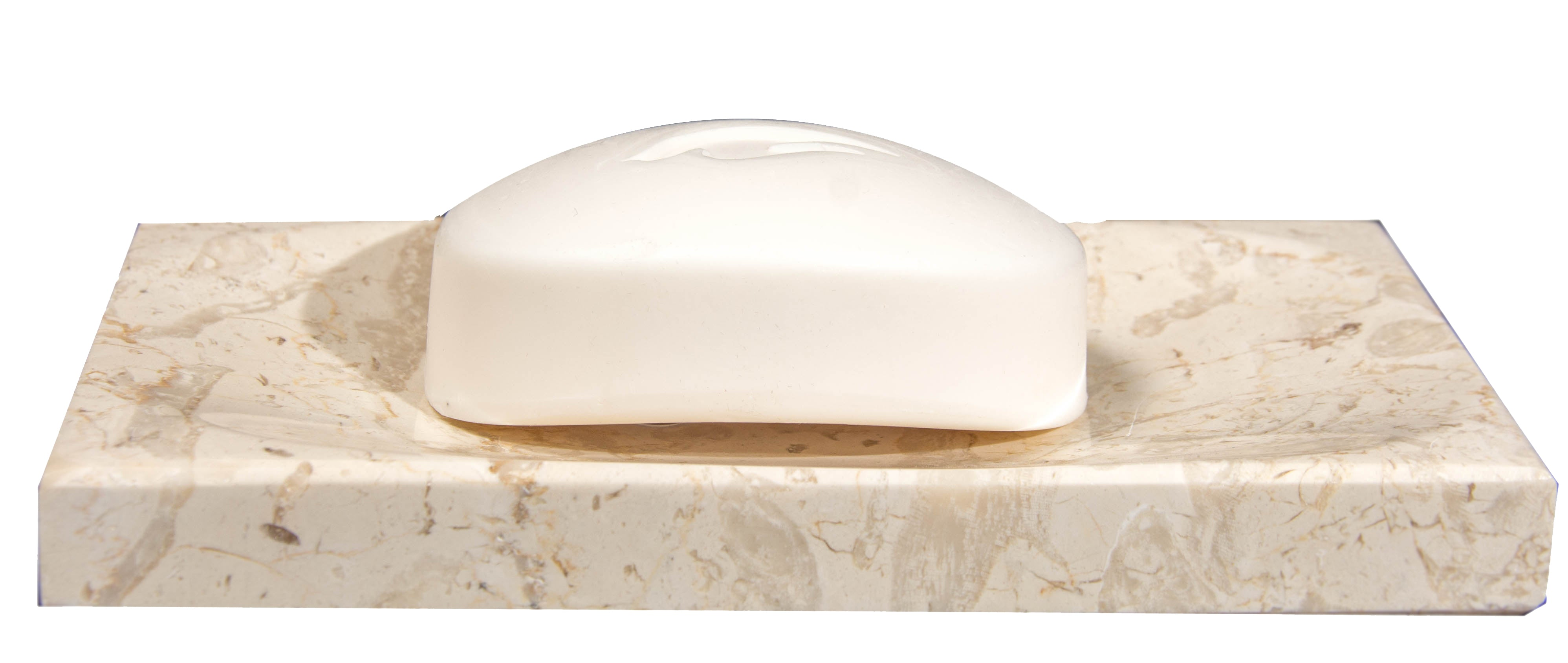 Beige Marble Soap Dish - Polished and Shiny Marble Dish Holder Beautifully Crafted Bathroom Accessory by CraftsOfEgypt
