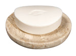Beige Marble Soap Dish - Polished and Shiny Marble Dish Holder - Beautifully Crafted Bathroom Accessory - by CraftsOfEgypt