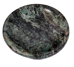 Green Marble Soap Dish - Polished and Shiny Marble Dish Holder - Beautifully Crafted Bathroom Accessory - by CraftsOfEgypt
