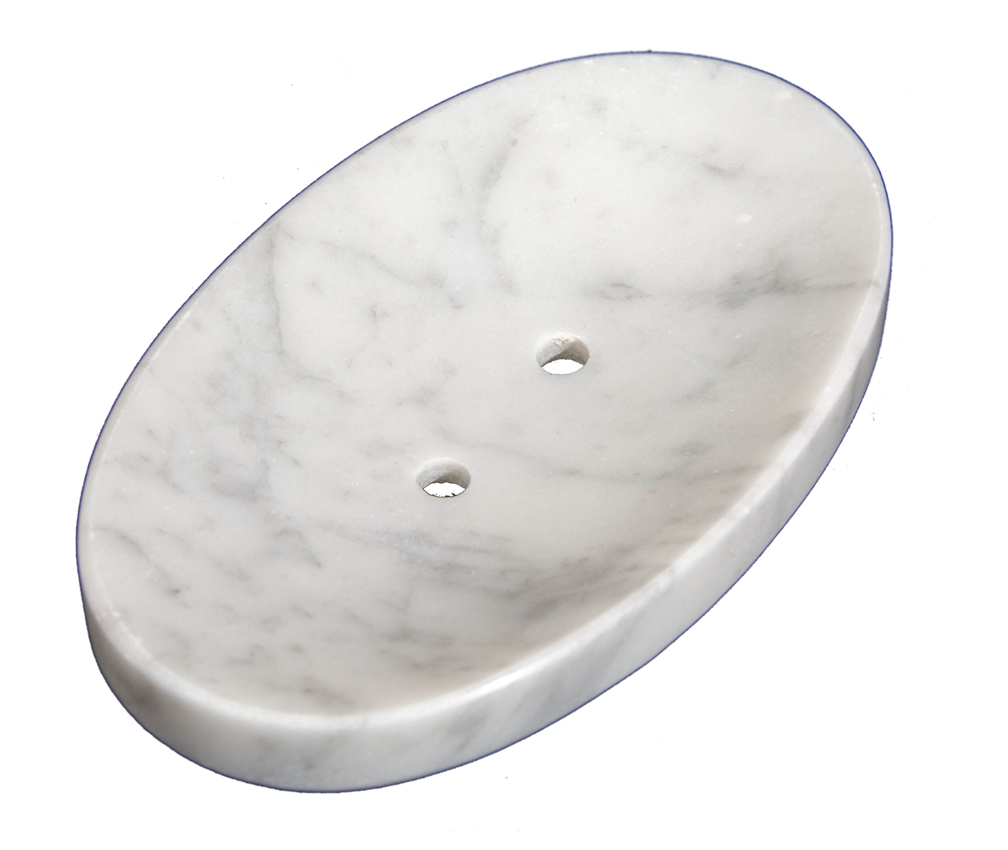 White Marble Soap Dish - Polished and Shiny Marble Dish Holder Beautifully Crafted Bathroom Accessory by CraftsOfEgypt