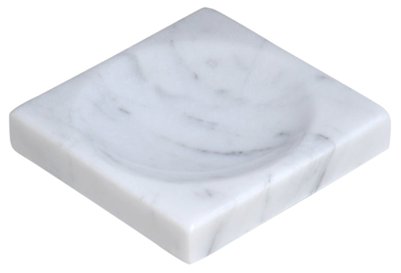 White Marble Soap Dish - Polished and Shiny Marble Dish Holder - Beautifully Crafted Bathroom Accessory - by CraftsOfEgypt