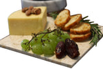 Biege Marble Cheese Board - Works as a Small cutting board - Premium Trivet/Small pot holder - Effective Shushi serving platter Size 7x7 in(18x18cm)