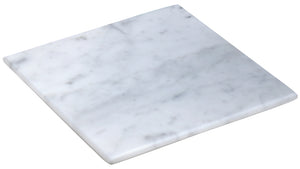 White Marble Cheese Board - Works as a Small cutting board - Premium Trivet/Small pot holder - Effective Shushi serving platter Size 7x7in(18x18cm)