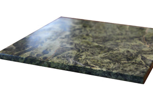Green Marble Cheese Board - Works as a Small cutting board - Premium Trivet/Small pot holder - Effective Shushi serving platter Size 7x7in(18x18cm)