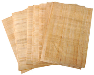 Set 10 Egyptian Papyrus Paper 12x16in (30x40cm) - Ancient Alphabets Papyrus Sheets-Papyri for Art Project, Scrapbooking, And School History