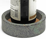 Green Wine Bottle Coaster / Holder – Made from Elegant Marble with an Absorbent Cork – Perfect for All Drinks and any Occasion