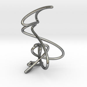 Wire knot pendant necklace