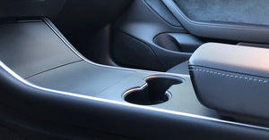 Kenriko Tesla Model 3 Satin Black Console Wrap Kit