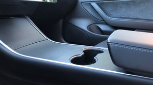 Kenriko Tesla Model 3/Y Matte Black Console Wrap Kit