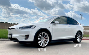 "Tesla Model X Two-Tone 22"" Turbine Wheel Wrap Kit"
