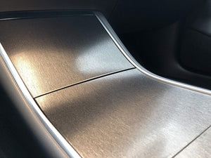 Kenriko Tesla Model 3 Black Brushed Metal Console Wrap Kit