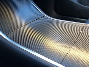 Kenriko Tesla Model 3/Y Carbon Fiber Console Wrap Kit