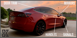 Kenriko Tesla Model 3 Professional Chrome Delete Kit