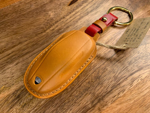 Premium Italian Leather Key Fob Holder Model S/3/Y