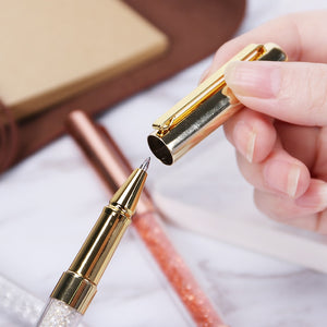 Crystal Signature Writing Ballpoint Pen -  Japanese stationery gifts drawing writing calligraphy