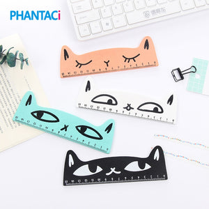 Cute Cat Wooden Ruler 15 cm -  Japanese stationery gifts drawing writing calligraphy