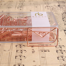 Load image into Gallery viewer, Rose Gold Love Paper Clip -  Japanese stationery gifts drawing writing calligraphy