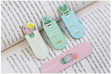 Load image into Gallery viewer, Set Of Magnetic Cactus Bookmarks -  Japanese stationery gifts drawing writing calligraphy
