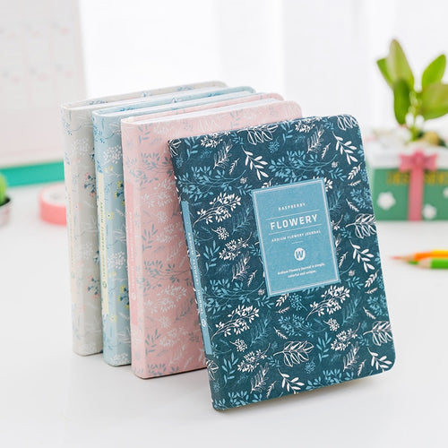 Vintage Flowery Diary Planner -  Japanese stationery gifts drawing writing calligraphy