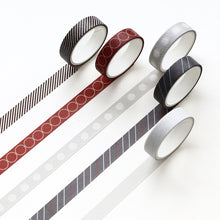 Load image into Gallery viewer, Fun Pattern Washi Tape Set of 5 -  Japanese stationery gifts drawing writing calligraphy
