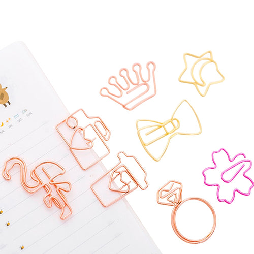 Kawaii Rose Pastel Paper Clips -  Japanese stationery gifts drawing writing calligraphy