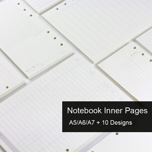 Loose Leaf Notebook Inner pages A5 A6 A7 -  Japanese stationery gifts drawing writing calligraphy